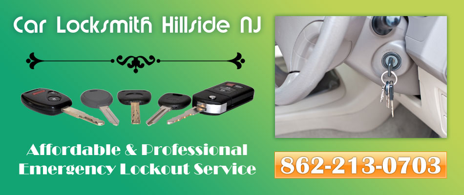 Car Locksmith Hillside NJ banner